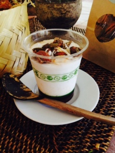 yogurt de coco con granola